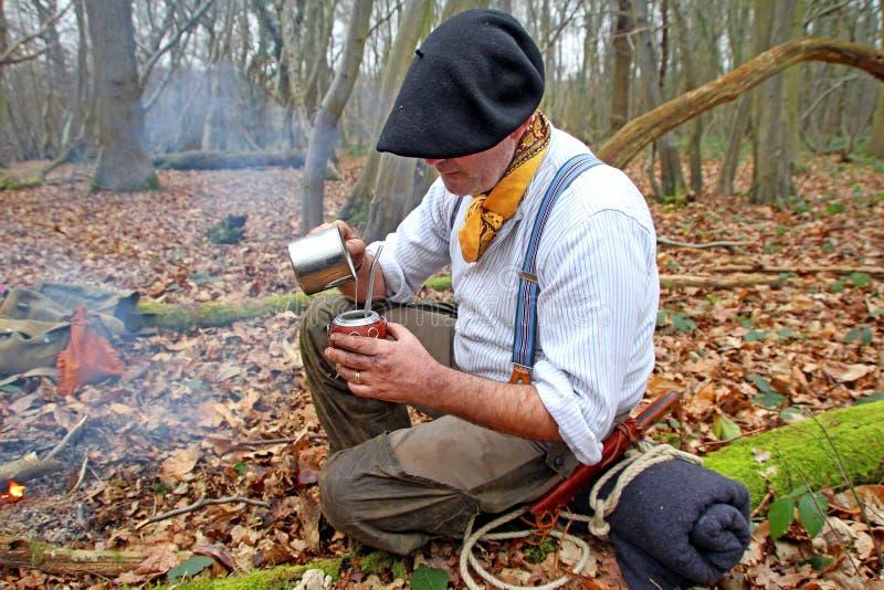 Compagnon potable de yerba en bois photographie stock libre de droits