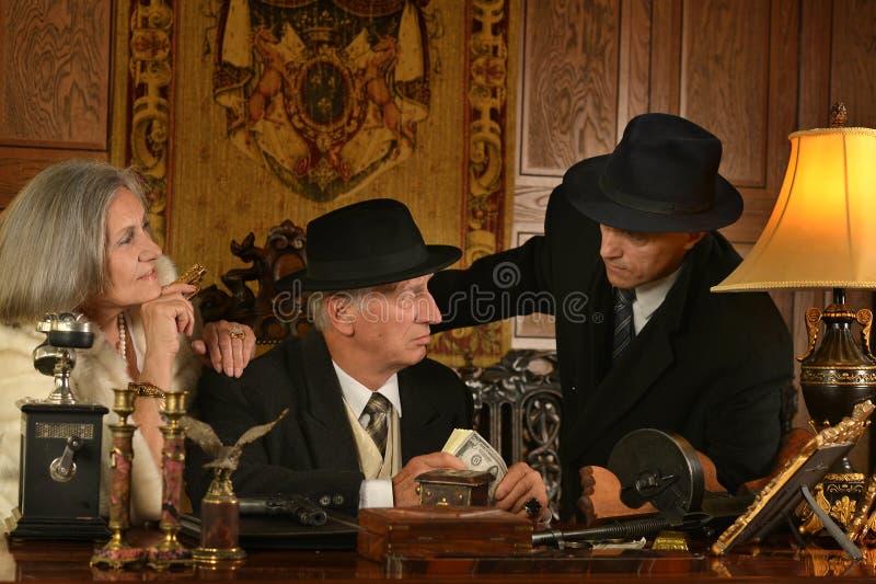 Companheiros dos gângsteres fotografia de stock royalty free