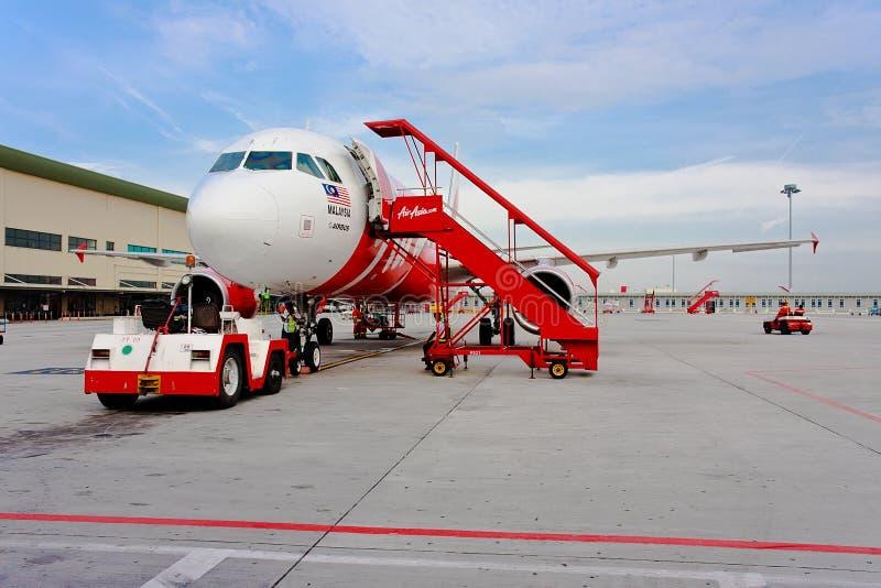 Companhia aérea Air Asia de baixo custo imagens de stock