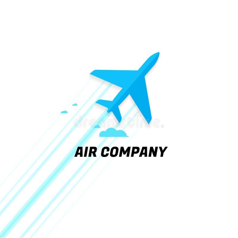 Companhia aérea plano Ideia da faculdade criadora logo Projeto moderno Vetor ilustração stock