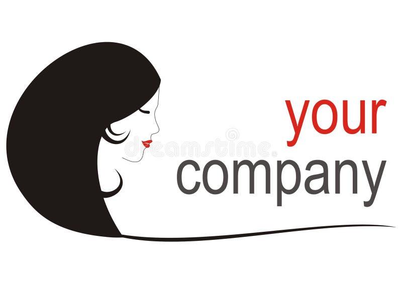 Companhia do logo_your da menina ilustração royalty free