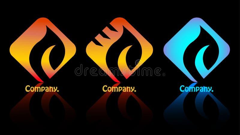 Download Companhia Do Logotipo De Três Incêndios. Ilustração do Vetor - Ilustração de preto, geometria: 26523543