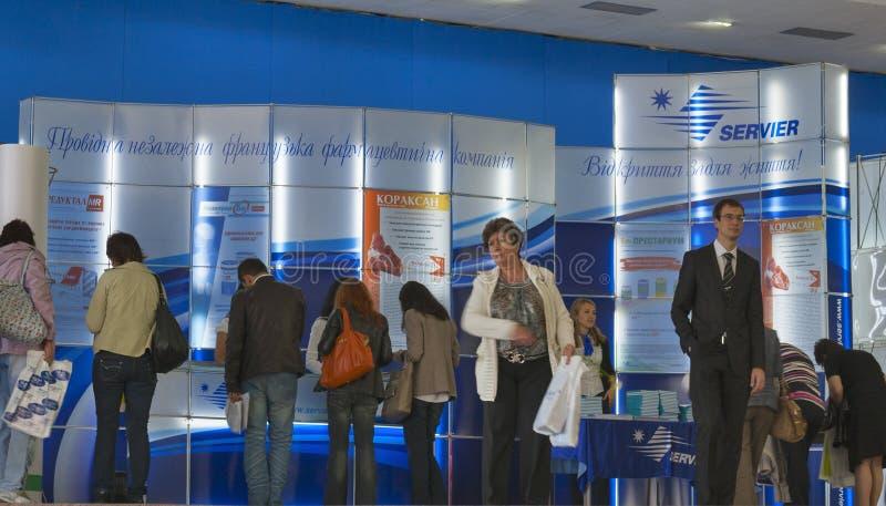 Companhia farmacéutica do francês dos laboratórios de Servier imagem de stock