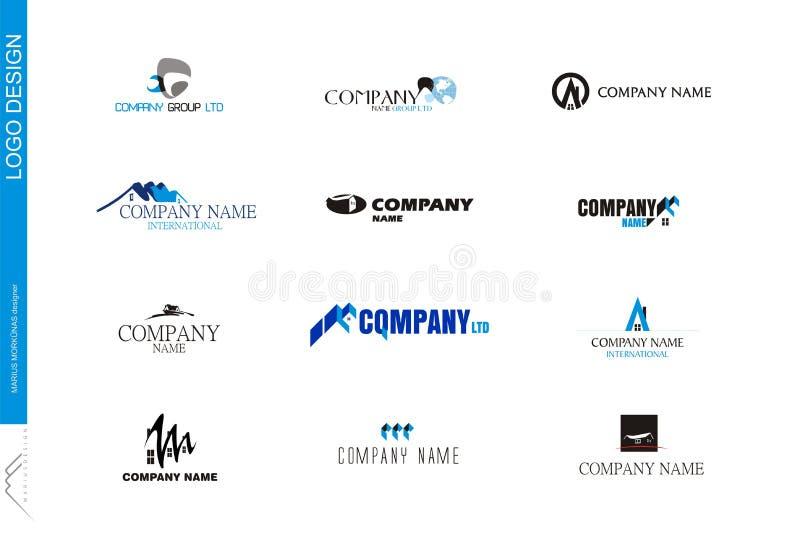 07 companhia logo Milímetro fotografia de stock