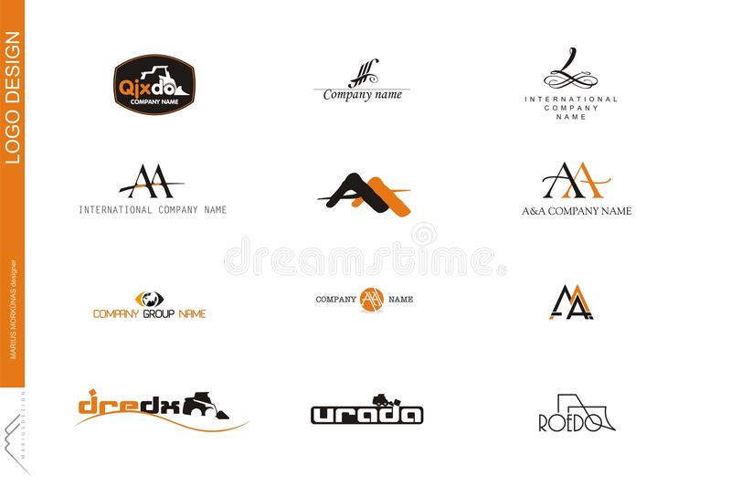 06 companhia logo Milímetro foto de stock royalty free