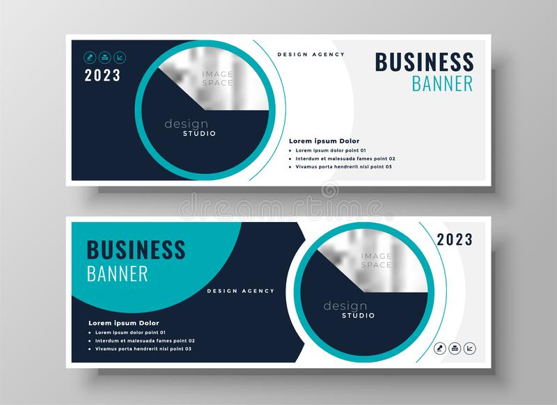 Company business banner professional layout design vector illustration