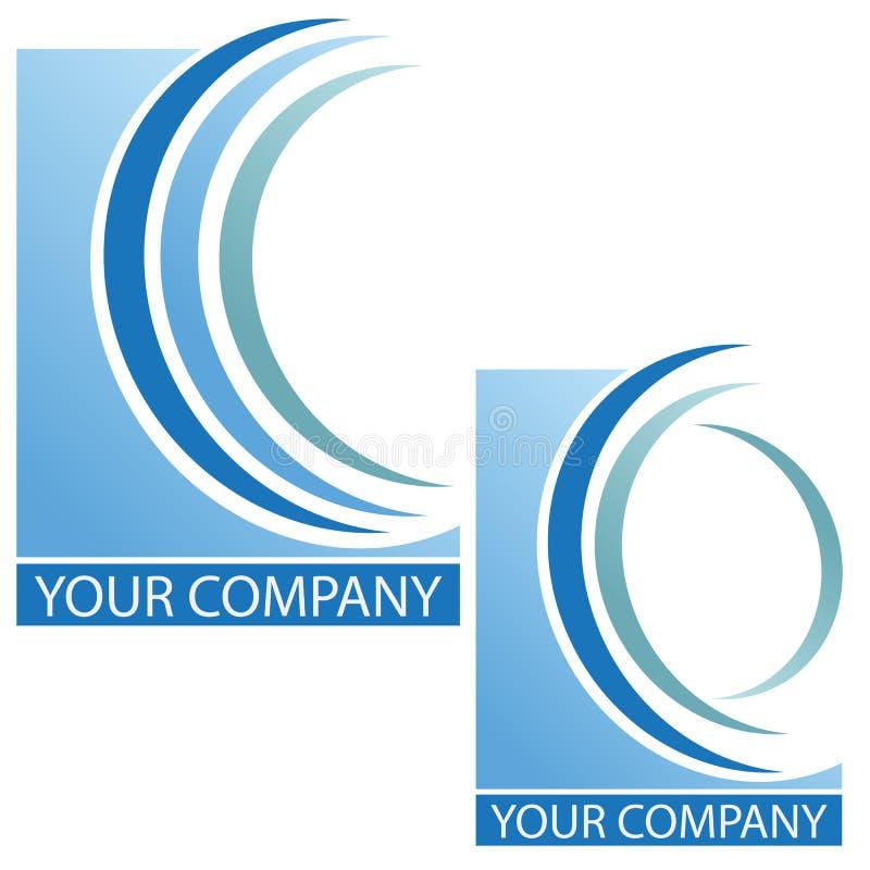 Company business logo. Company logo on white background royalty free illustration