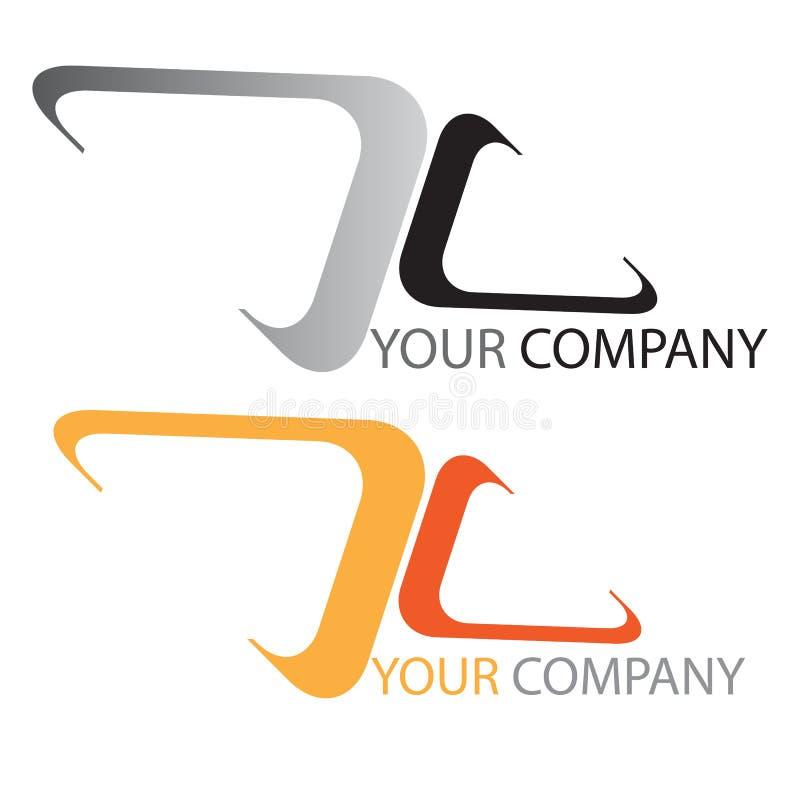 Company business logo. Company logo on white background stock illustration