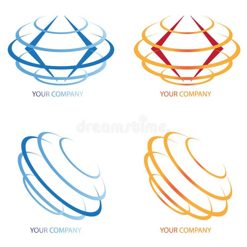 Company business logo. On white background vector illustration