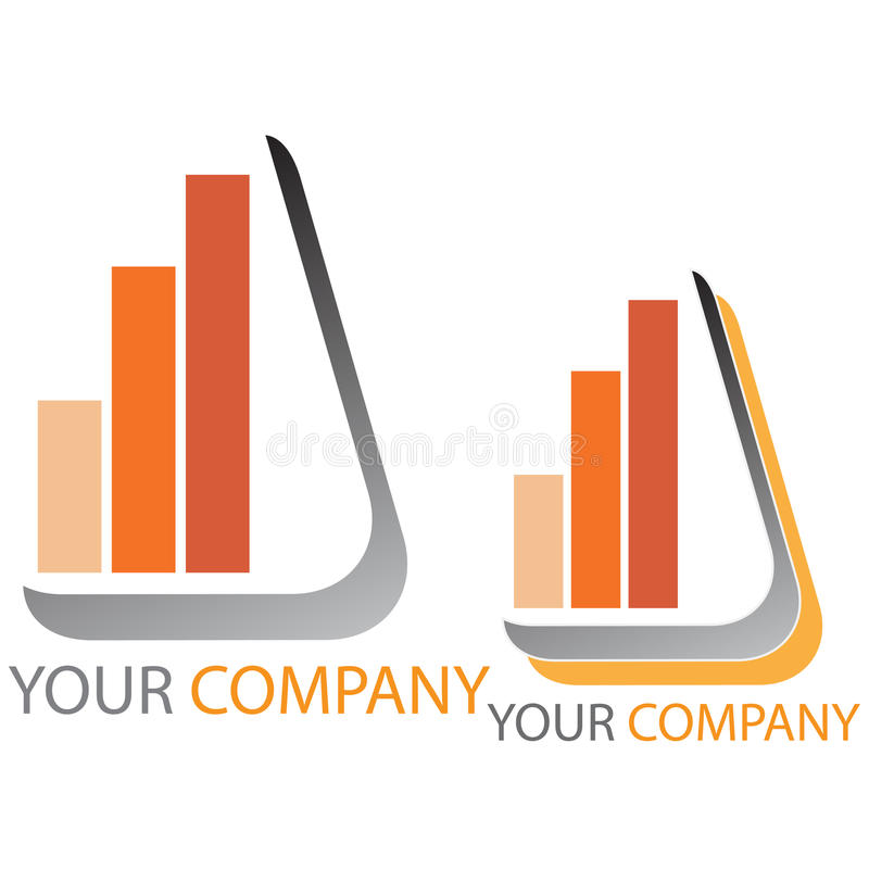 Company business logo - Investing. Company business logo on white background stock illustration