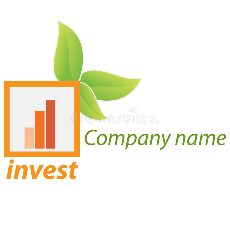 Company business logo - Investment. Company business logo on white background