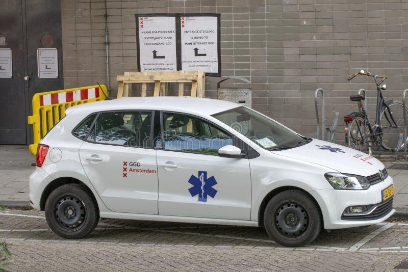 Company Car GGD Amsterdam The Netherlands 2019.  royalty free stock photo