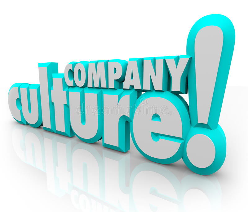 Company Culture 3d Words Team Organization Working Together royalty free illustration