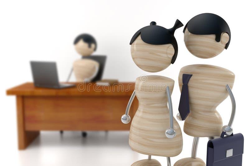 Download Company. depth of field stock illustration. Illustration of partners - 3679600