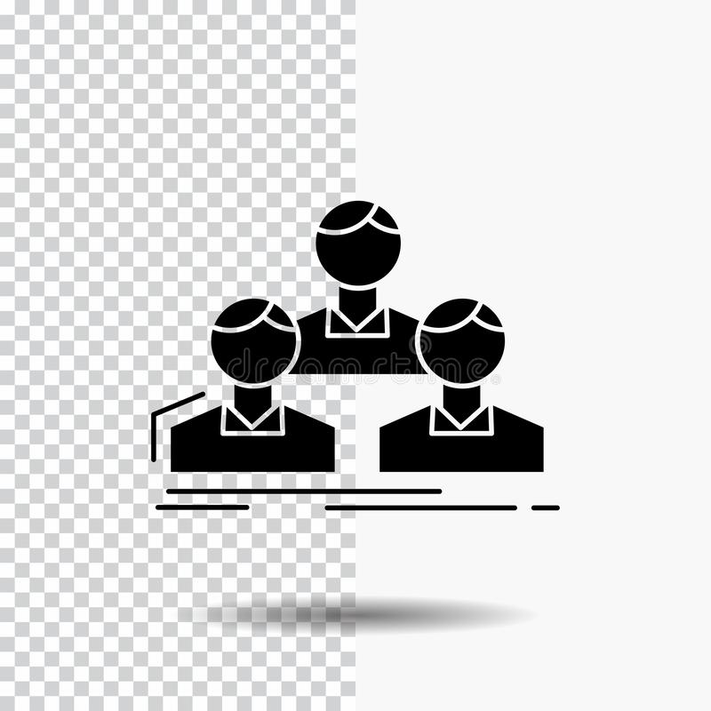 Company, employee, group, people, team Glyph Icon on Transparent Background. Black Icon. Vector EPS10 Abstract Template background vector illustration