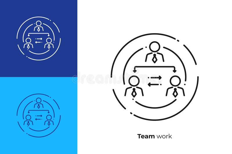 Company hierarchy line art vector icon vector illustration