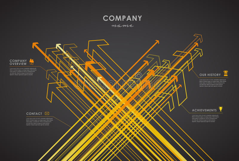 Company infographic overview design template royalty free illustration