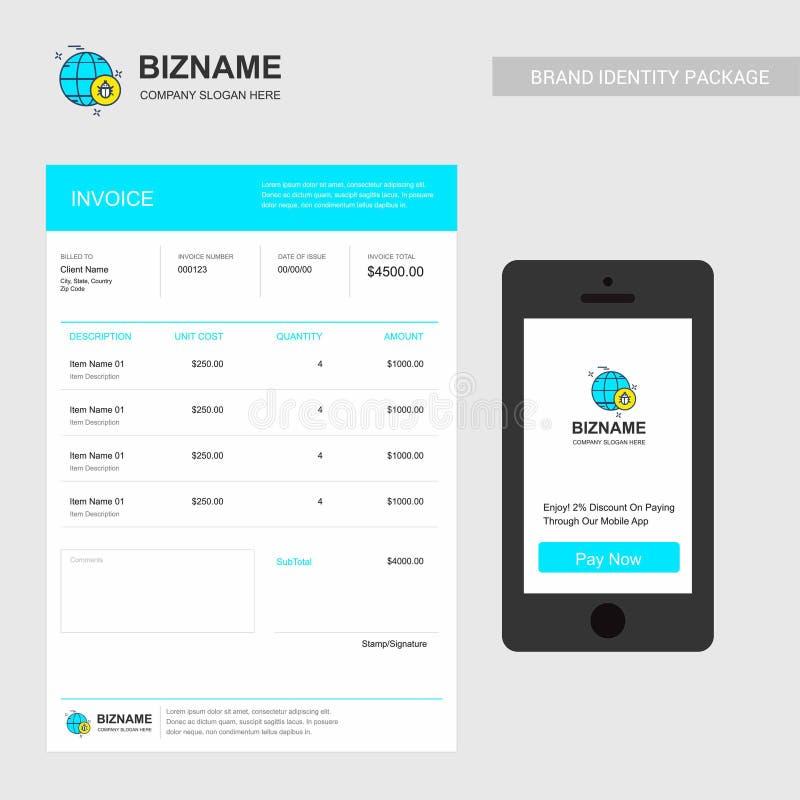 Company Invoice design with creative design vector stock illustration