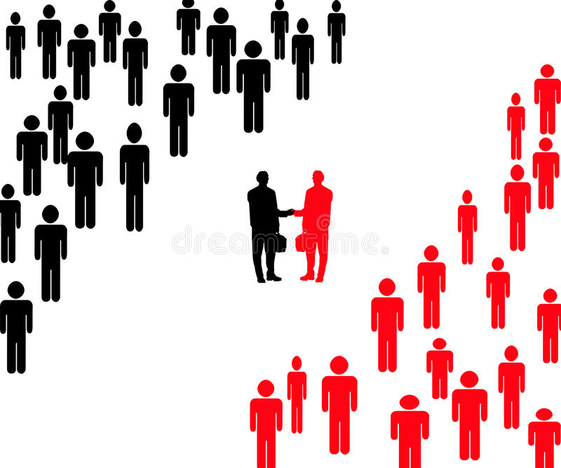 Download Company Leaders Shaking Hands Stock Illustration - Image: 14510739
