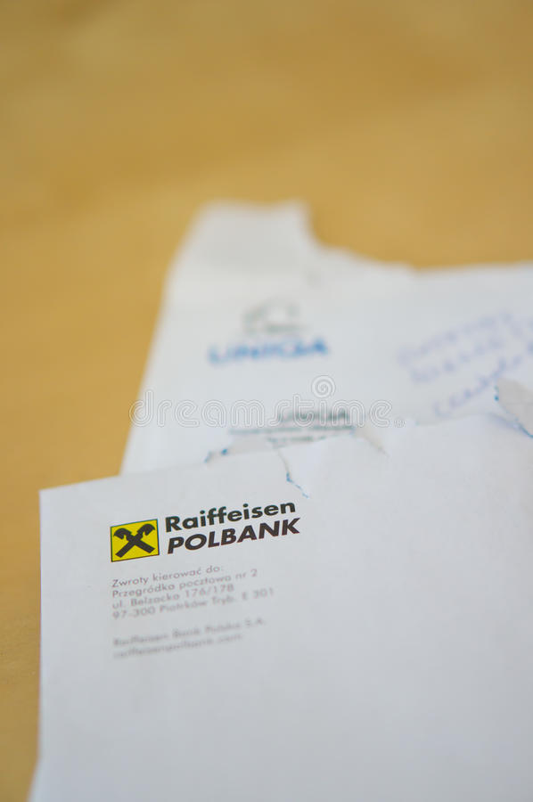 Company Letters Editorial Stock Photo