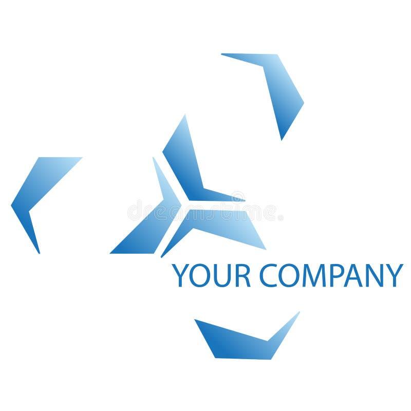 Company logo. On white background royalty free illustration