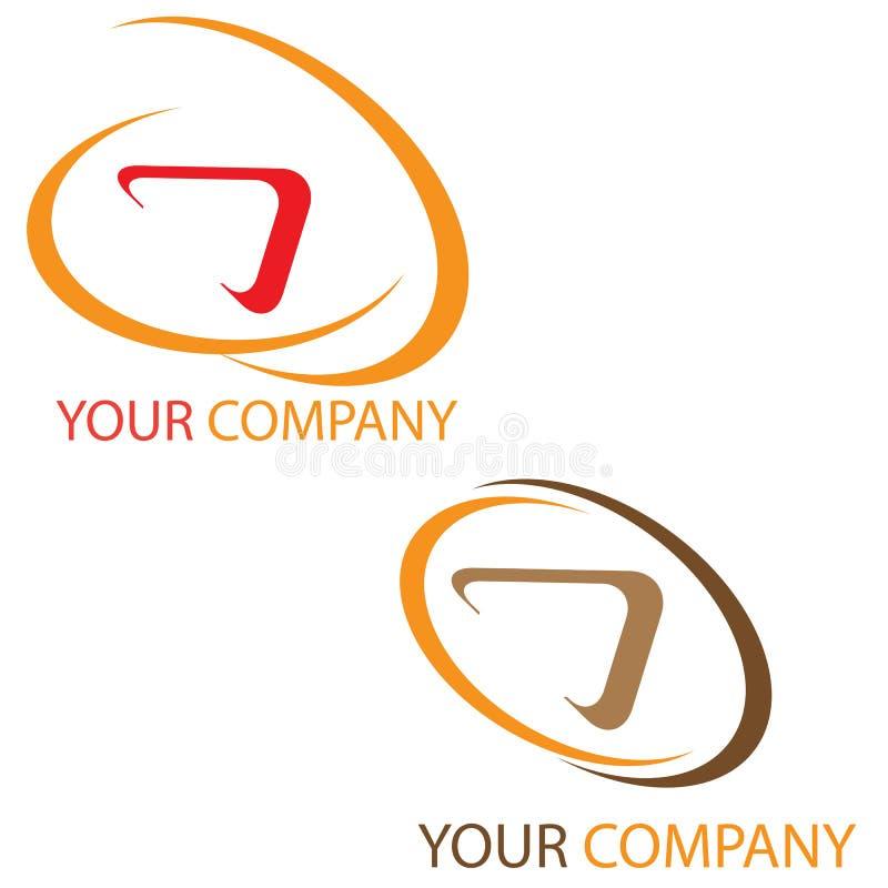 Company logo. On white background stock illustration