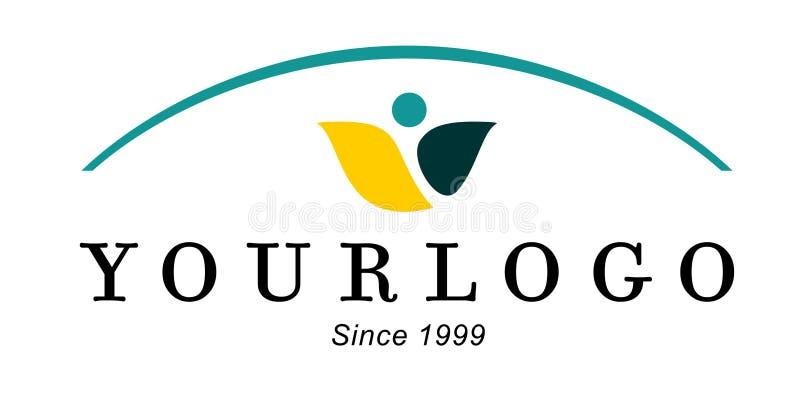 Company logo. Blue, yellow, concept logo