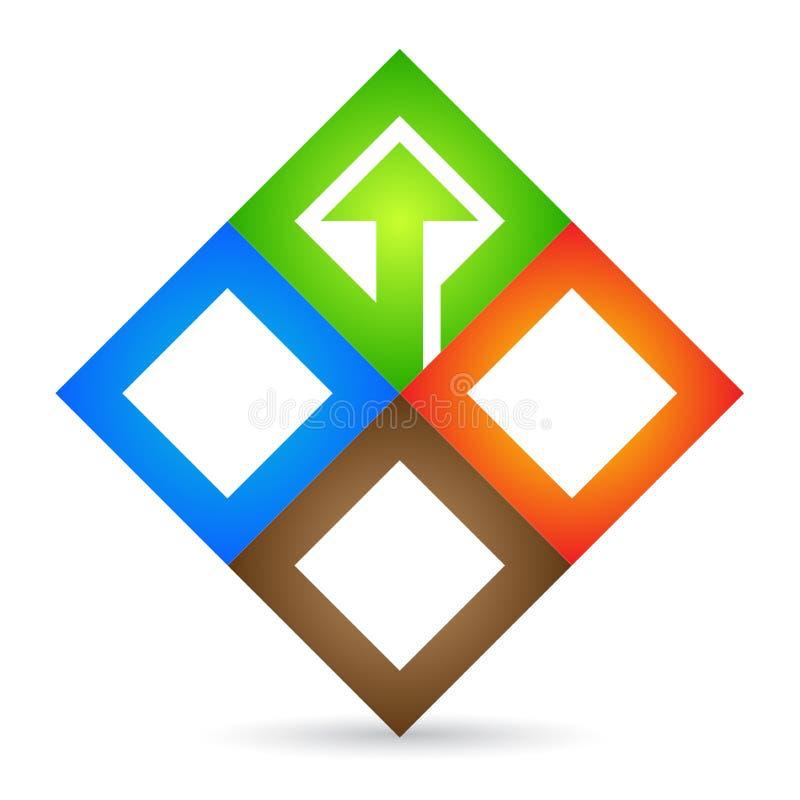 Company logo. Illustration of company logo design isolated on white background royalty free illustration