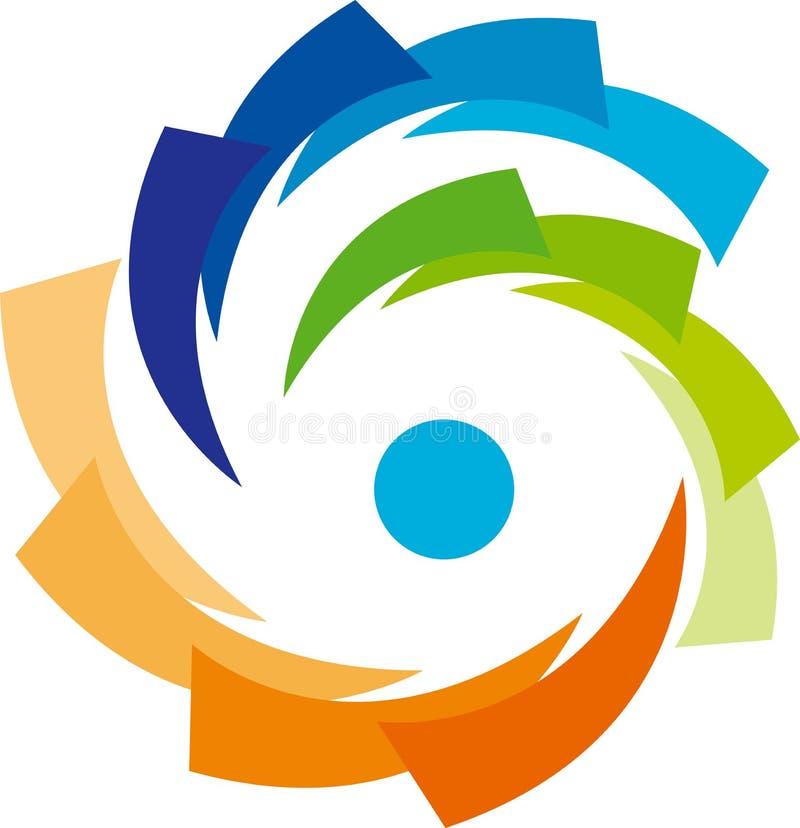 Company logo. Illustration of company logo design isolated on white background vector illustration