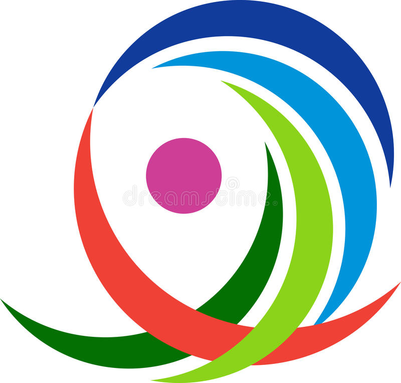 Company logo. A vector drawing represents company logo design royalty free illustration
