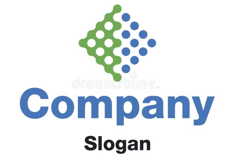 Company Logo. A company logo in green and blue vector illustration
