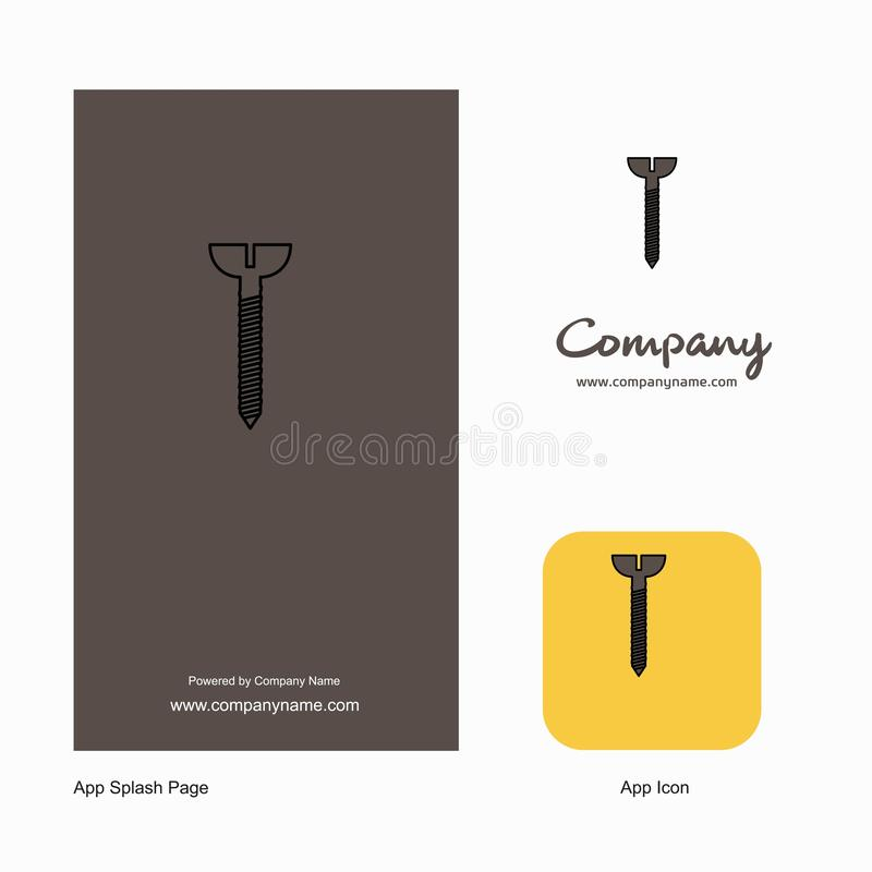 Company Logo App Icon and Splash Page Design. Creative Business App Design Elements vector illustration