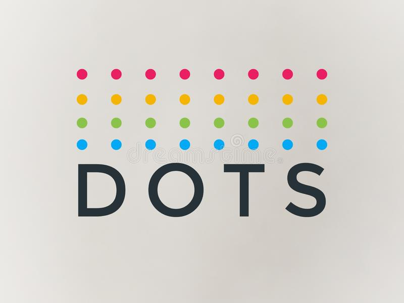 Company logo dots in beautiful multicolor stock illustration