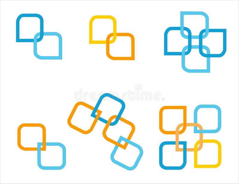 Company logo set. Company logo elements isolated on white royalty free illustration