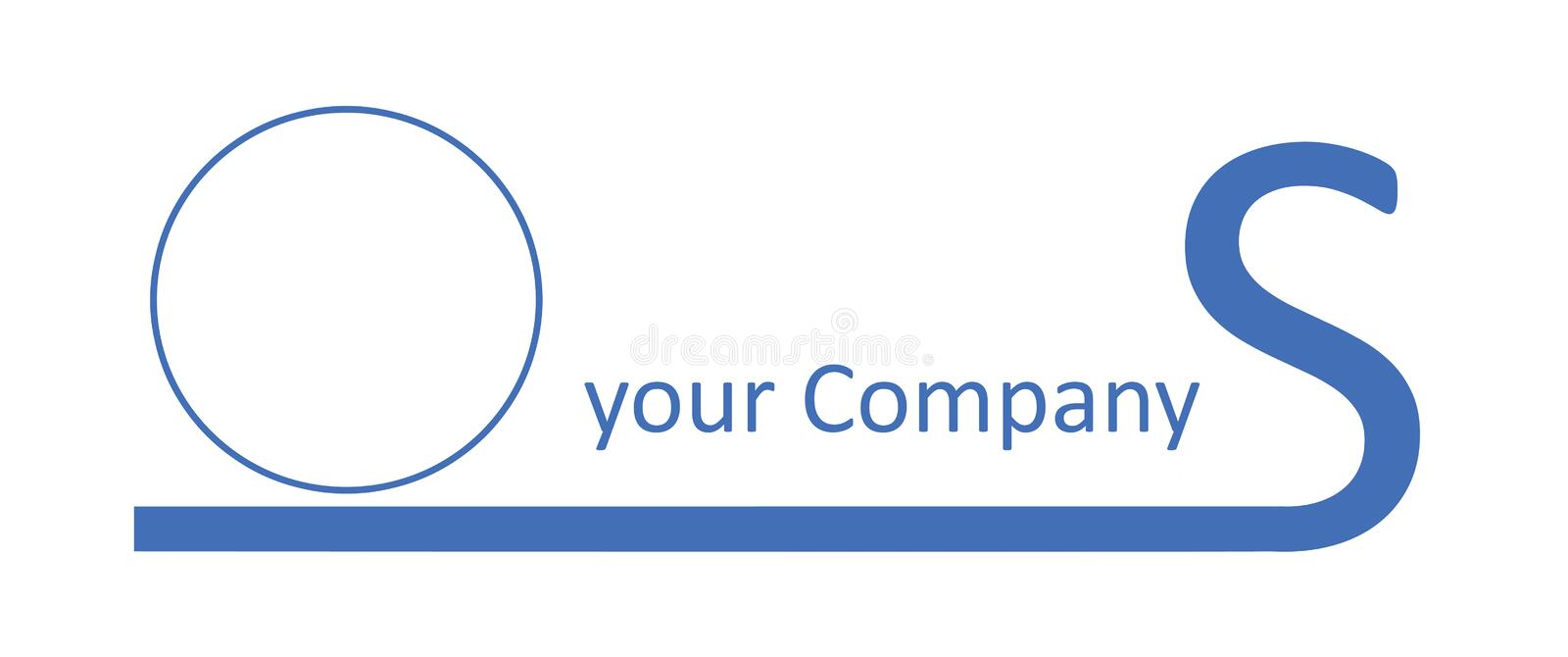 Company Logo - Ending S. It's a company logo. There is a circle where you can put another logo vector illustration