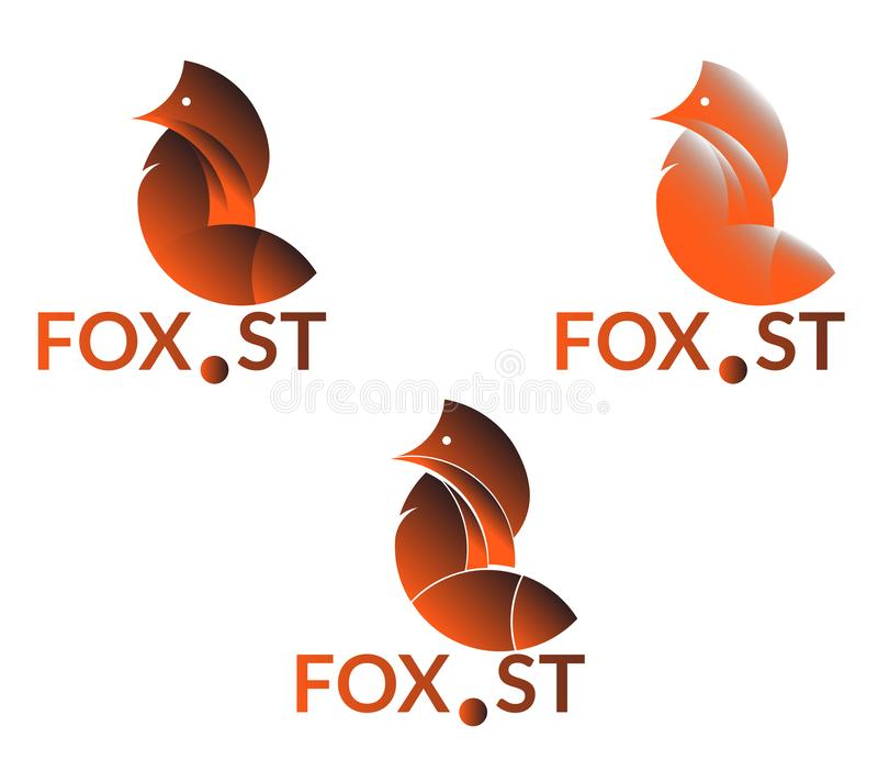 Company logo with fox. Vector golden ratio fox logo royalty free illustration
