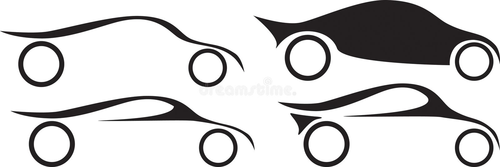 Company logo ideas for cars and motor sports royalty free illustration