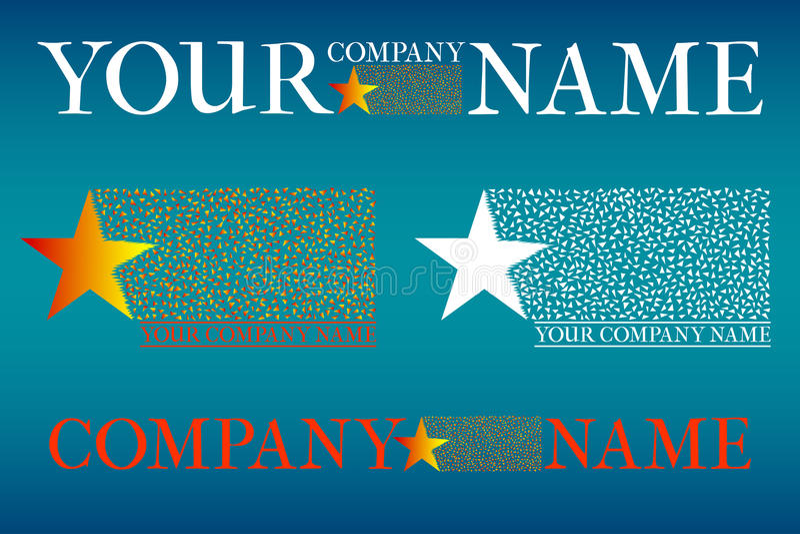 Company logo set stock illustration