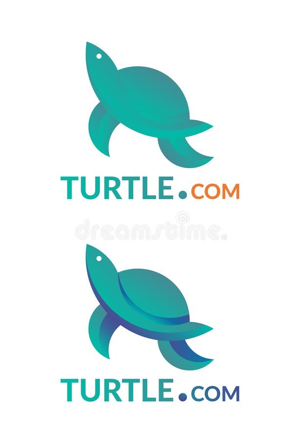 Company logo with turtle sign. Vector golden ratio turtle logo vector illustration