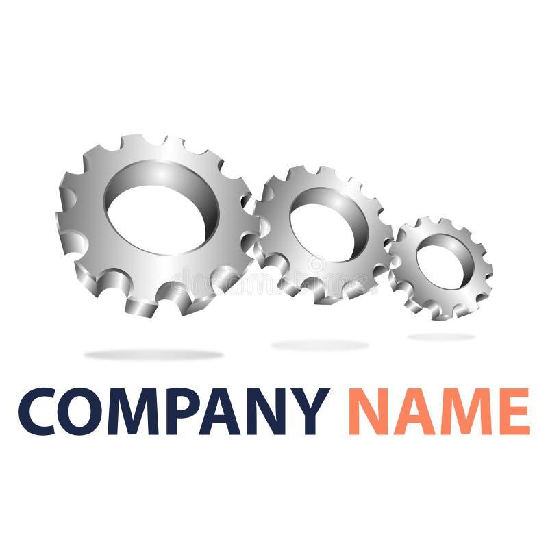 Company logo3. Use gear to form a company branding logo royalty free illustration