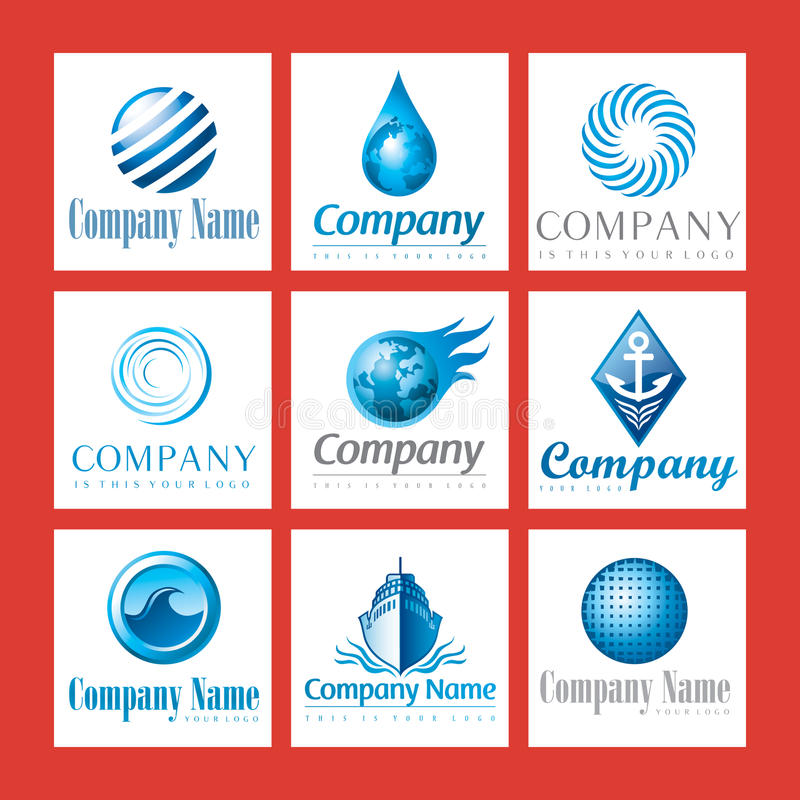 Download Company logos in blue stock vector. Illustration of company - 13941842