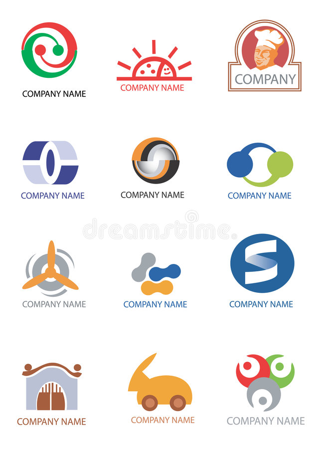 Company_logos_design_elements illustration de vecteur