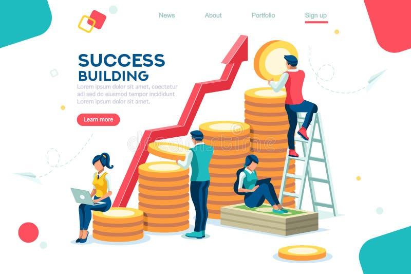 Company Management Progress Bank Investment royalty free illustration