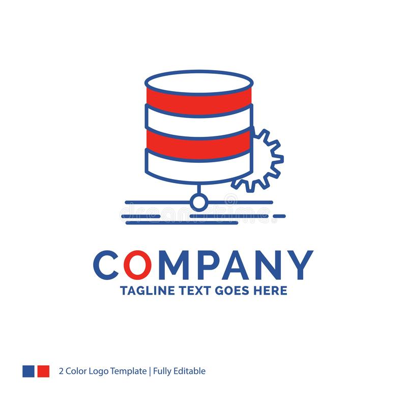 Company Name Logo Design For Algorithm, chart, data, diagram, fl. Ow. Blue and red Brand Name Design with place for Tagline. Abstract Creative Logo template for royalty free illustration
