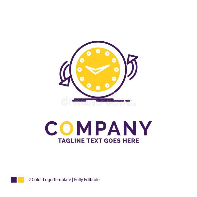 Company Name Logo Design For Backup, clock, clockwise, counter royalty free illustration
