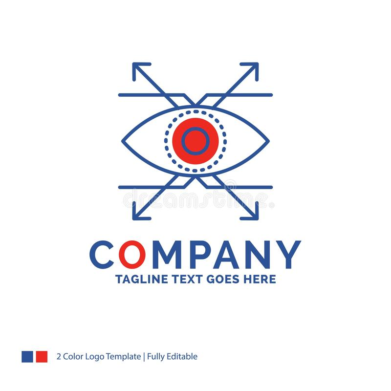 Company Name Logo Design For Business, eye, look, vision. Blue a stock photos