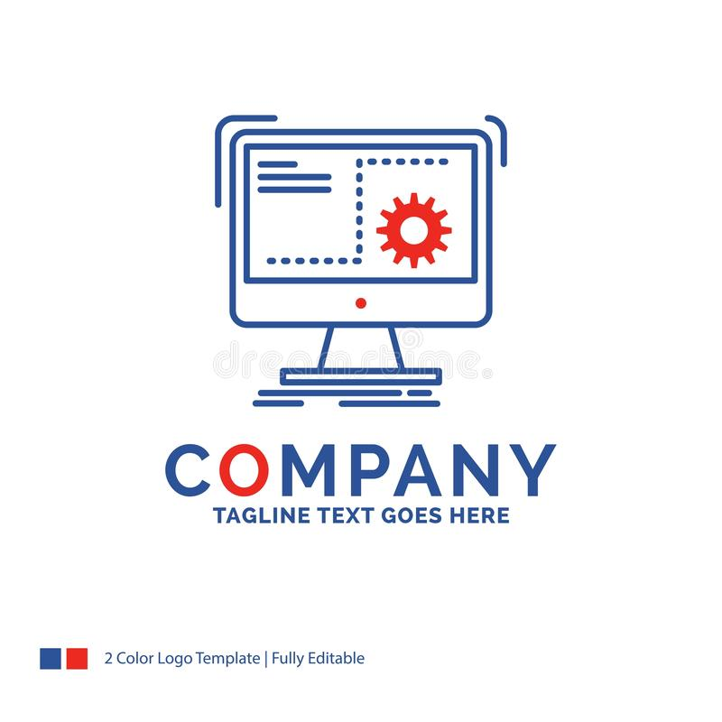Company Name Logo Design For Command, computer, function, proces. S, progress. Blue and red Brand Name Design with place for Tagline. Abstract Creative Logo vector illustration