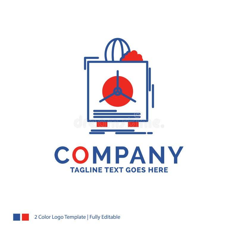 Company Name Logo Design For insurance, Fragile, product, warran stock illustration