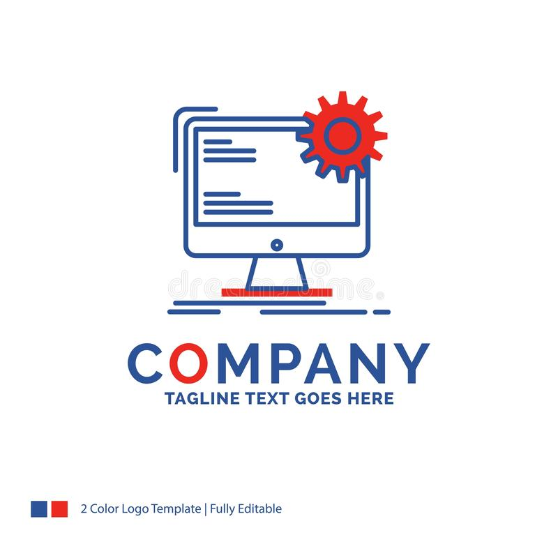 Company Name Logo Design For Internet, layout, page, site, stati. C. Blue and red Brand Name Design with place for Tagline. Abstract Creative Logo template for royalty free illustration
