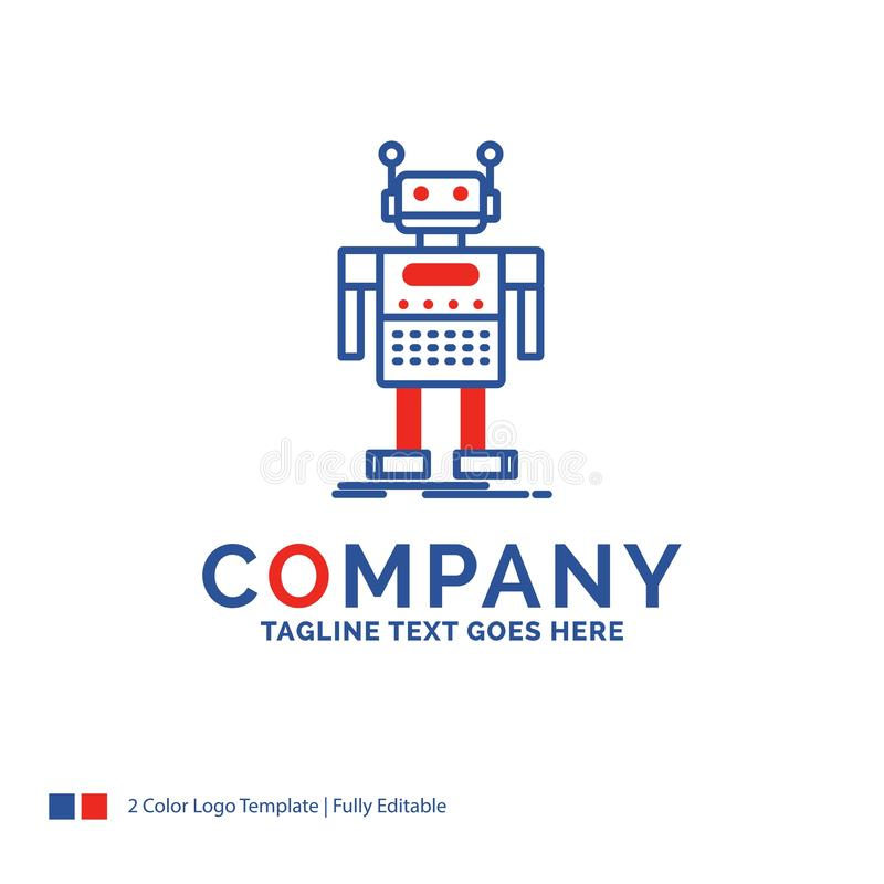 Company Name Logo Design For robot, Android, artificial, bot, te stock illustration